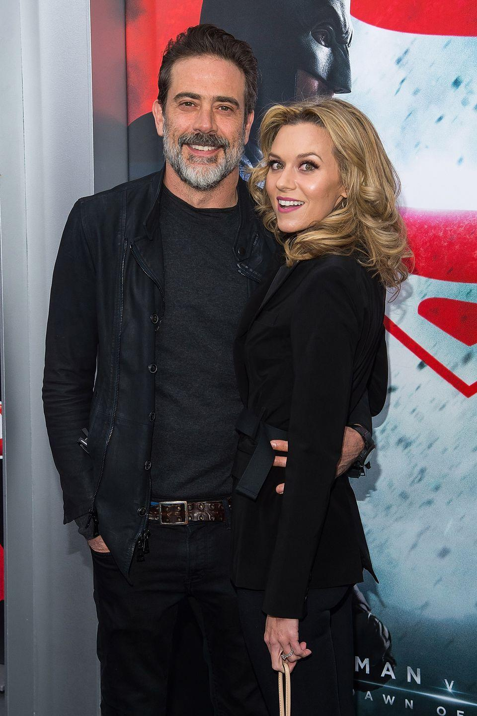 "<p>The <em>One Tree Hill </em>actress and <em>The Walking Dead</em>star began dating in 2009 <a href=""http://www.eonline.com/news/882768/jeffrey-dean-morgan-and-hilarie-burton-inside-the-hollywood-pair-s-private-relationship%22%20%5Cl%20%22photo-848805"" rel=""nofollow noopener"" target=""_blank"" data-ylk=""slk:after being set up"" class=""link rapid-noclick-resp"">after being set up</a> by Morgan's <em>Supernatural</em> co-star, Jensen Ackles. The couple welcomed sone Gus in 2010, and were married in 2014. They recently welcomed a daughter, George Virginia, in 2018. </p>"