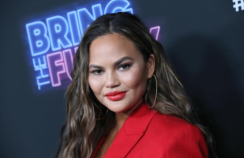The model and cookbook author was placed on 'serious bed rest' during her third pregnancy earlier this month (Getty Images)