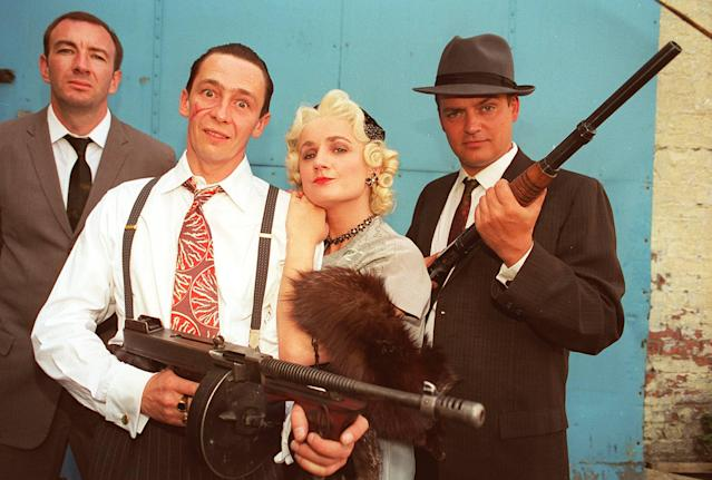 Simon Day, Paul Whitehouse, Caroline Hook and Charlie Higson in <em>The Fast Show</em> (Getty Images)