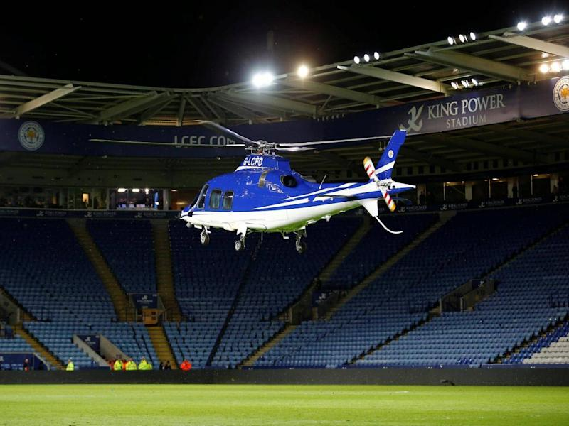 Vichai Srivaddhanaprabha's helicopter crashed outside the King Power Stadium (Reuters)