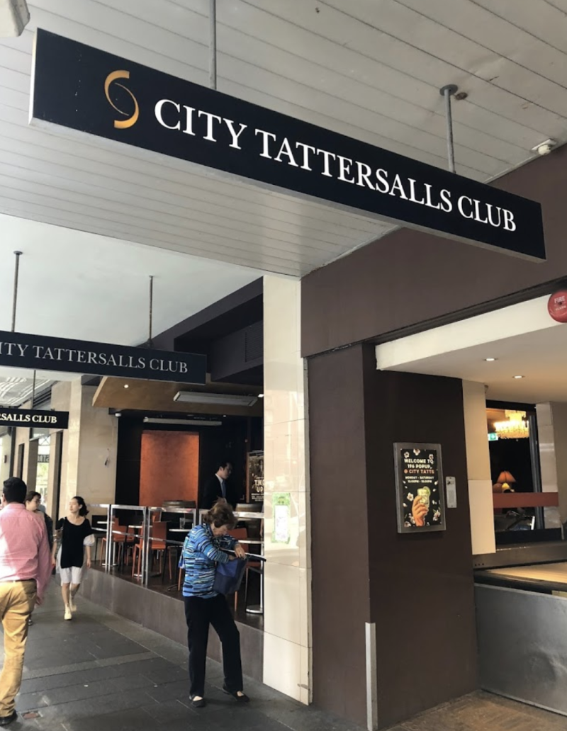 The cluster linked to the City Tattersalls Club grew to 23 after eight new cases were linked to the hotspot on Saturday. Source: Google Maps/Ben Hoffman