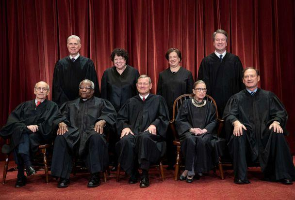 PHOTO: The justices of the U.S. Supreme Court gather for a formal group portrait, Nov. 30, 2018. (J. Scott Applewhite/AP, FILE)