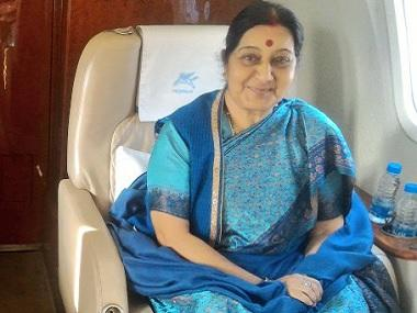 Sushma Swaraj arrives in Thailand: Foreign minister to meet her counterpart tomorrow, defence, economic ties on agenda