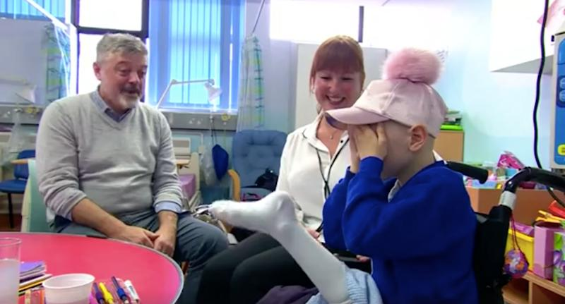 Fearless seven-year-old British girl has leg reattached backwards after cancer surgery