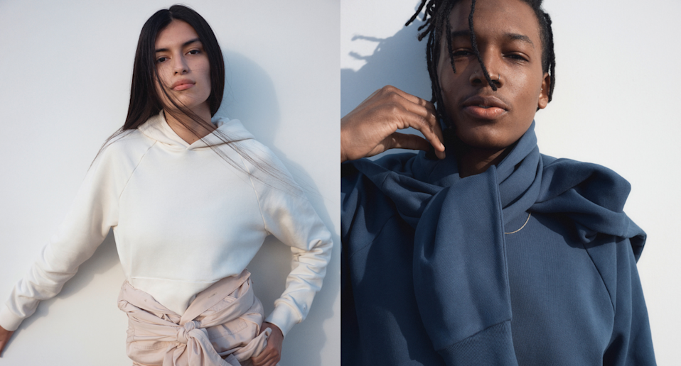 Everlane's new loungewear collection is both stylish and sustainable. Images courtesy of Everlane.