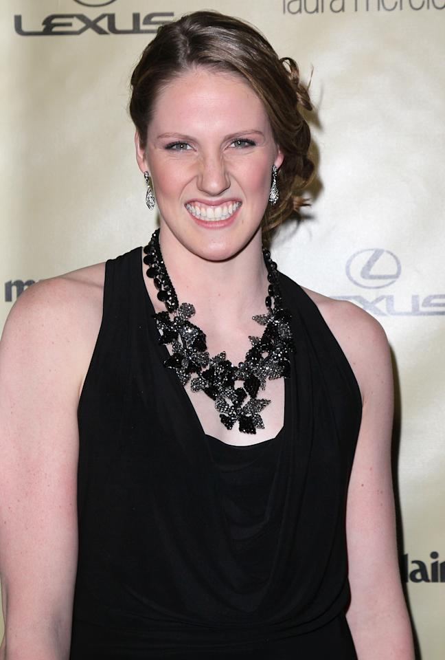 BEVERLY HILLS, CA - JANUARY 13:  Olympic swimmer Missy Franklin attends The Weinstein Company's 2013 Golden Globe Awards After Party at The Beverly Hilton hotel on January 13, 2013 in Beverly Hills, California.  (Photo by David Livingston/Getty Images)