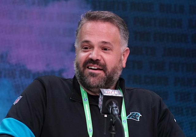 New Panthers head coach Matt Rhule drafted a defense to balance the bold moves he made on offense since taking over. (Kirby Lee-USA TODAY Sports)