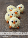 """<p>Your kids will love playing with these cute little chicks, made from yarn and pipe cleaner. </p><p><strong>Get the tutorial at <a href=""""http://blog.consumercrafts.com/seasonal/spring/pom-pom-easter-chicks/"""" rel=""""nofollow noopener"""" target=""""_blank"""" data-ylk=""""slk:Consumer Crafts"""" class=""""link rapid-noclick-resp"""">Consumer Crafts</a>.</strong> </p>"""