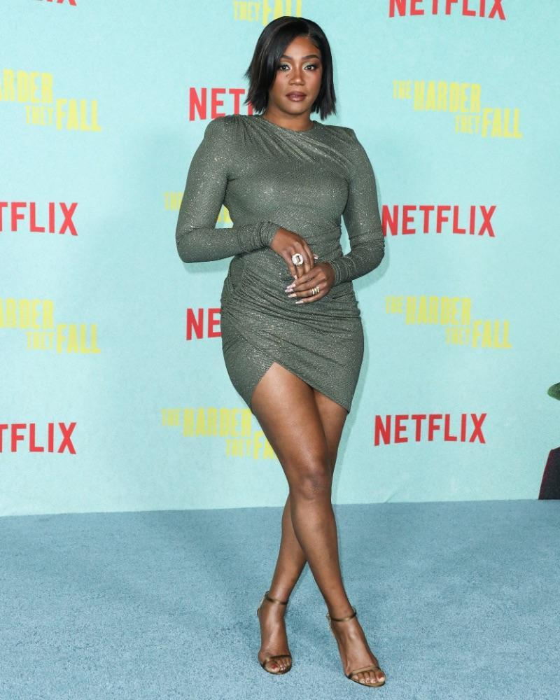 Tiffany Haddish at the Los Angeles premiere of Netflix's 'The Harder They Fall' held at the Shrine Auditorium and Expo Hall on Oct. 13. - Credit: Xavier Collin/Image Press Agency / MEGA