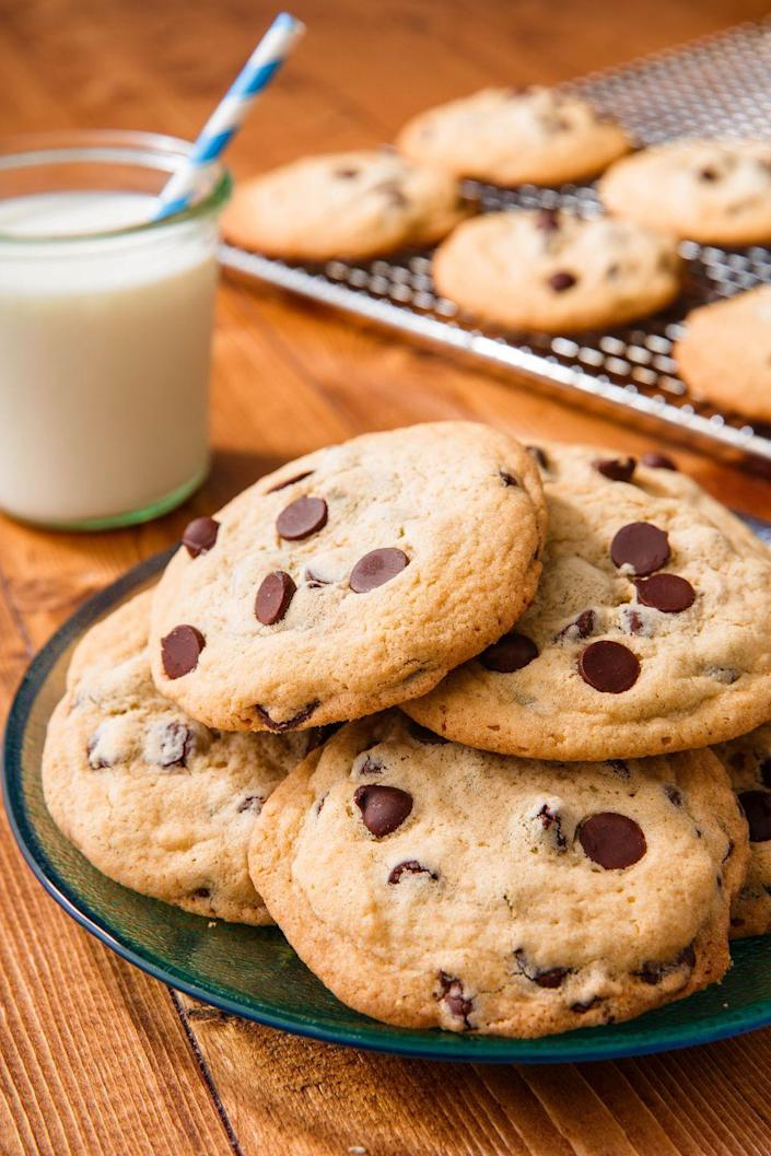 """<p>Look no further! We've got you covered for the perfect chocolate chip cookie recipe.</p><p>Get the recipe from <a href=""""https://www.delish.com/cooking/recipe-ideas/a50605/chocolate-chip-cookies-recipe/"""" rel=""""nofollow noopener"""" target=""""_blank"""" data-ylk=""""slk:Delish"""" class=""""link rapid-noclick-resp"""">Delish</a>.</p>"""