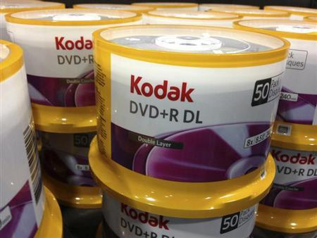 DVD's by Eastman Kodak Co are displayed in a retail store in San Diego, California