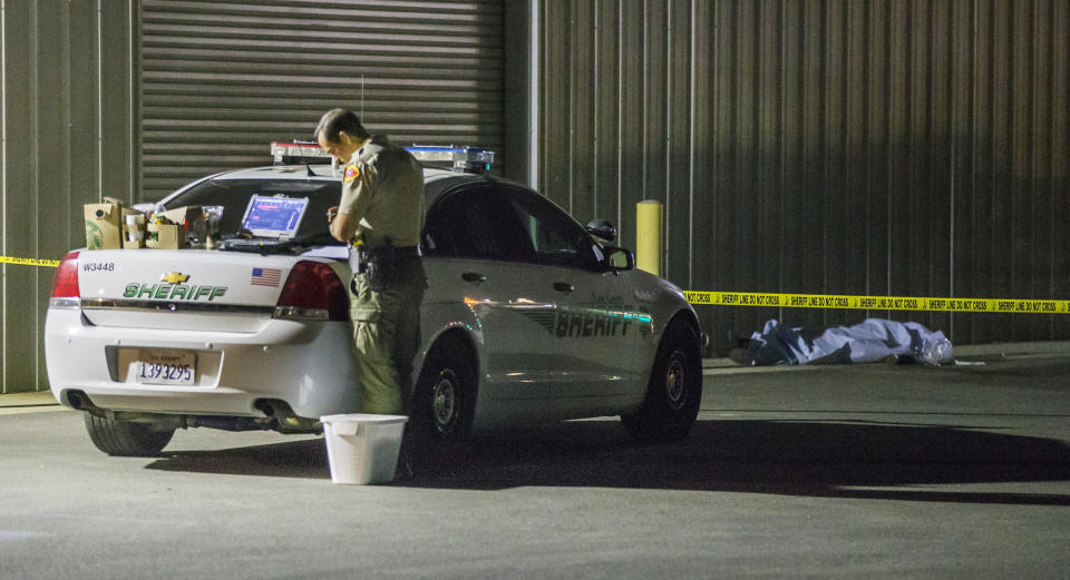 <em>Victims – it wasn't immediately known what the gunman's relationship to his victims was, other than his wife (Felix Adamo/The Bakersfield Californian via AP)</em>
