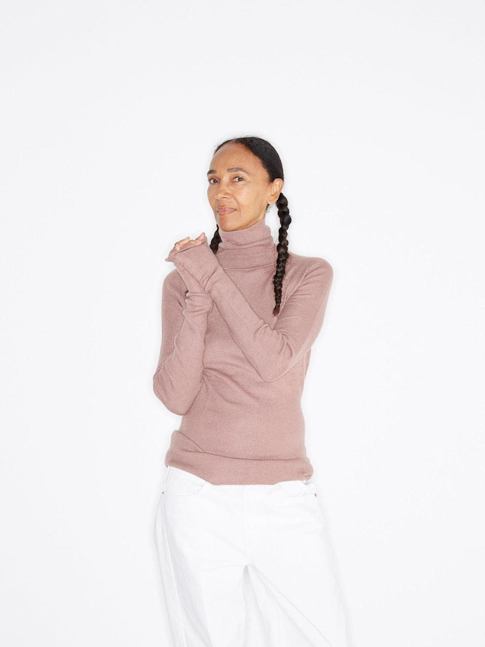 "<br><br><strong>Raey</strong> Roll-Neck Fine-Rib Cashmere Sweater, $, available at <a href=""https://www.matchesfashion.com/products/Raey-Roll-neck-fine-rib-cashmere-sweater-1237968"" rel=""nofollow noopener"" target=""_blank"" data-ylk=""slk:Matches Fashion"" class=""link rapid-noclick-resp"">Matches Fashion</a>"
