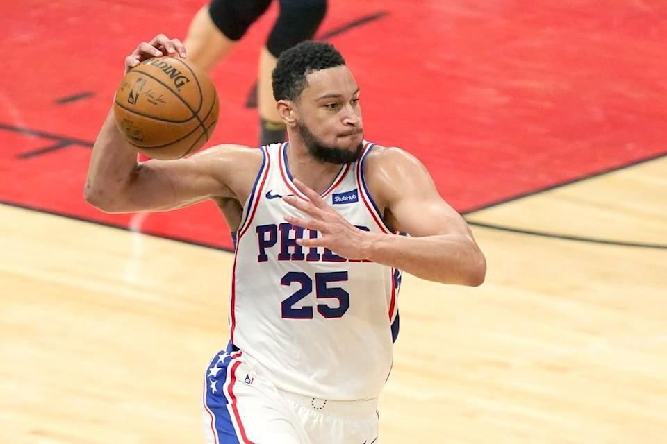 76ers Simmons-Training Camp Basketball (Copyright 2021 The Associated Press. All rights reserved)