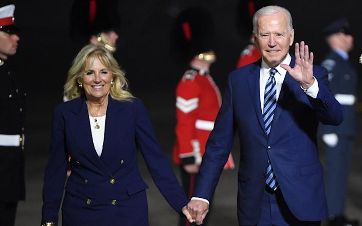 Joe Biden is expected to have tough words with Boris Johnson - NEIL HALL/POOL/EPA-EFE/Shutterstock