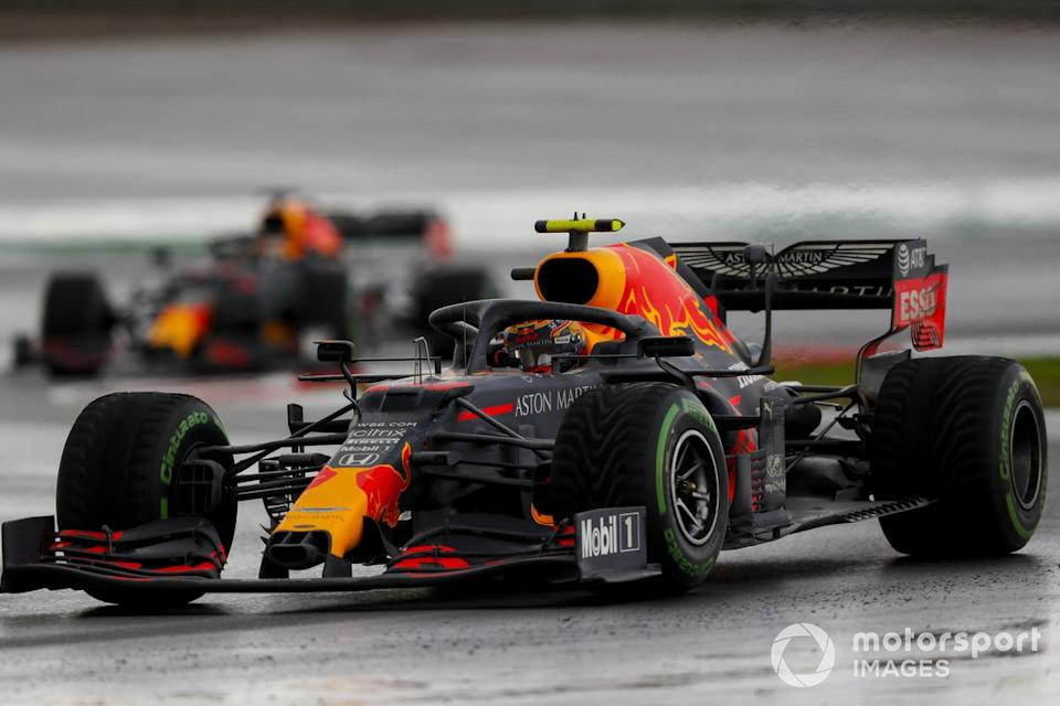 "Alex Albon, Red Bull Racing RB16, Max Verstappen, Red Bull Racing RB16<span class=""copyright"">Charles Coates / Motorsport Images</span>"