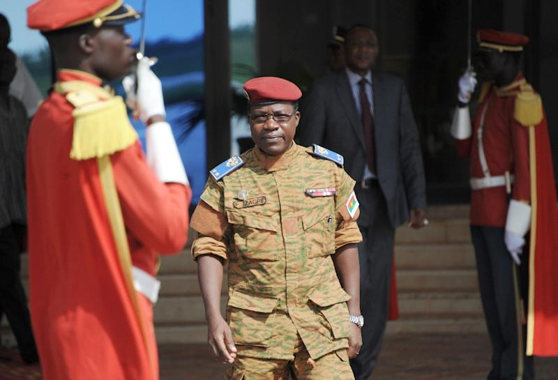 Burkina Faso's Chief-of-Staff General Pingrenoma Zagre waits on September 23, 2015 at Ouagadougou International airport to welcome six leaders of the Economic Community of West African States (AFP Photo/Ahmed Ouoba)