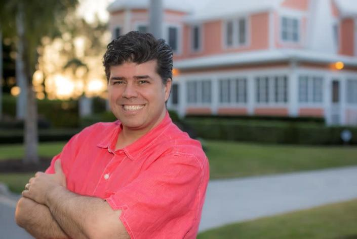 Pastor Shane Vaughn poses for a photo in Naples, Florida