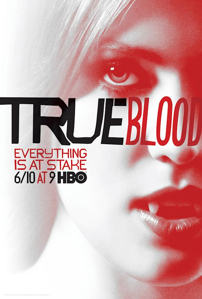 """True Blood"" Season 5 poster featuring Jessica Hamby (Deborah Ann Woll)"