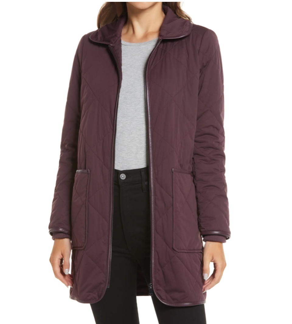 Halogen Quilted Barn Coat is available during the Nordstrom Made sale.