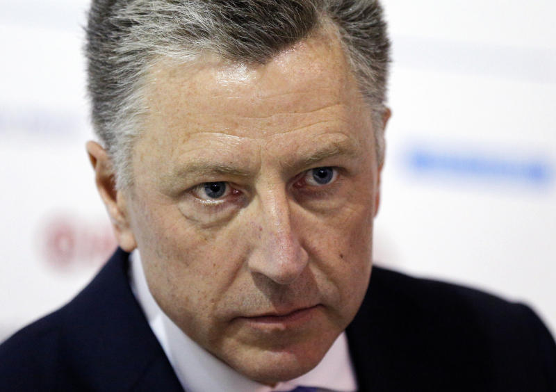 """FILE - In this Sept. 15, 2018 file photo, U.S. special representative to Ukraine Kurt Volker attends the 15th Yalta European Strategy (YES) annual meeting entitled """"The next generation of everything"""" at the Mystetsky Arsenal Art Center in Kiev, Ukraine. Andrew Howard, a managing editor of The State Press student newspaper at Arizona State University broke the news Friday, Sept. 27, 2019, that Volker, a key State Department official who was involved in talks between President Donald Trump and the Ukranian government, had stepped down from his post, the New York Times reports. (AP Photo/Efrem Lukatsky, File)"""