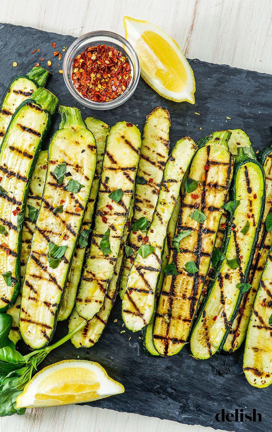 "<p>Here's your healthy, go-to summer side.</p><p>Get the recipe from <a href=""https://www.delish.com/cooking/recipe-ideas/recipes/a53484/grilled-zucchini-recipe/"" rel=""nofollow noopener"" target=""_blank"" data-ylk=""slk:Delish"" class=""link rapid-noclick-resp"">Delish</a>.</p>"