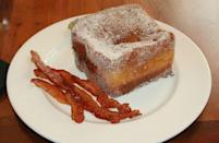 """<p><a href=""""https://www.delish.com/food-news/a32404369/disney-tonga-toast-recipe/"""" rel=""""nofollow noopener"""" target=""""_blank"""" data-ylk=""""slk:Tonga Toast"""" class=""""link rapid-noclick-resp"""">Tonga Toast</a> has been a staple at Disney's Polynesian Village Resort since its opening in 1970. Made with bananas and tons of powdered sugar, this breakfast will forever be popular in our hearts. </p>"""