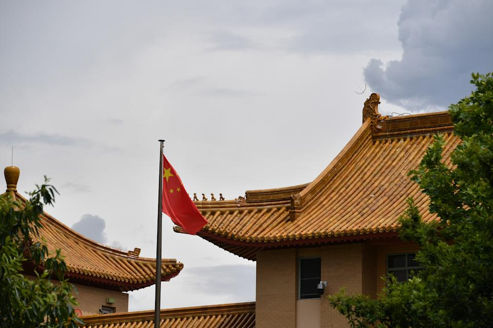 China's Washington embassy has hit out at the pact between the three countries. Source: AAP