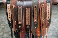 """<p><strong>EstelleLeather</strong></p><p>etsy.com</p><p><strong>$55.00</strong></p><p><a href=""""https://go.redirectingat.com?id=74968X1596630&url=https%3A%2F%2Fwww.etsy.com%2Flisting%2F656775722%2Fpersonalized-camera-strap-leather-camera&sref=https%3A%2F%2Fwww.womenshealthmag.com%2Frelationships%2Fg25752244%2Fbest-valentines-day-gifts-for-him%2F"""" rel=""""nofollow noopener"""" target=""""_blank"""" data-ylk=""""slk:Shop Now"""" class=""""link rapid-noclick-resp"""">Shop Now</a></p><p>Give your photo-snapping partner a polished look thanks to a leather strap with his name on it.</p>"""