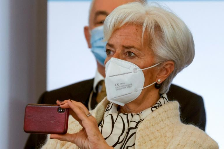 La présidente de la BCE Christine Lagarde au One Planet Summit à Paris le 11 janvier 2021