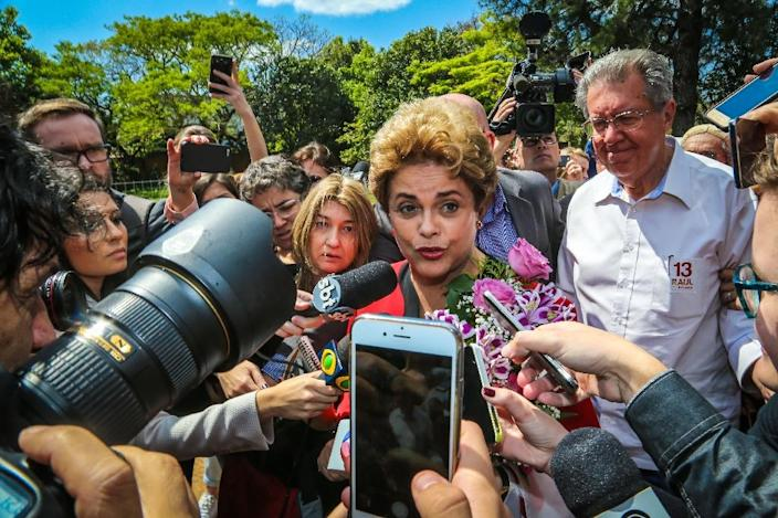 Dilma Rousseff lost the Brazilian presidency in August after being impeached for allegedly fiddling state accounts (AFP Photo/Gustavo Roth)
