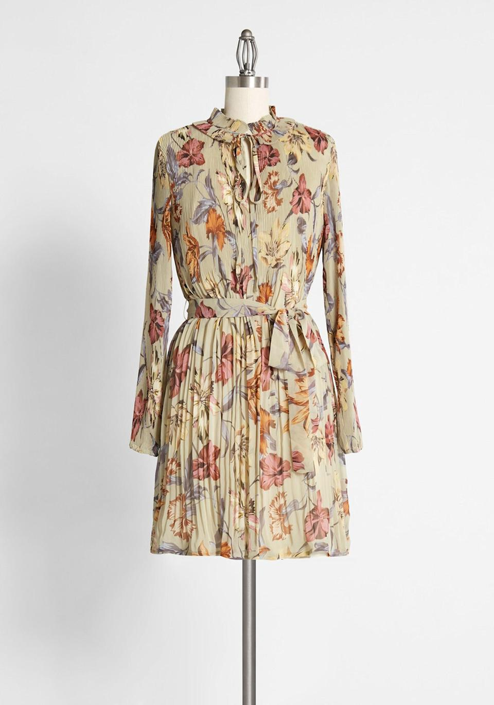 <p>The <span>Woodland Wanderlust Mini Dress</span> ($159) is perfect for an afternoon at the pumpkin patch.</p>