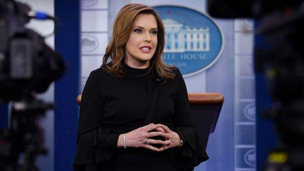 PHOTO: Communications adviser Mercedes Schlapp conducts an interview in the press briefing at the White House in Washington, Jan. 29, 2019. (Susan Walsh/AP, FILE)