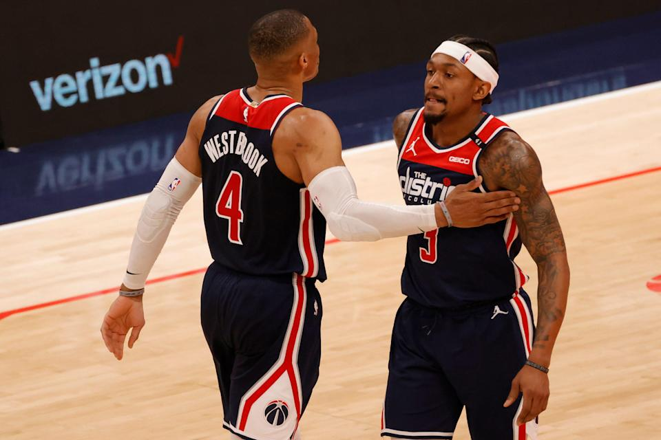 Russell Westbrook, Bradley Beal and the Wizards will face the Celtics in the first play-in game on Tuesday.