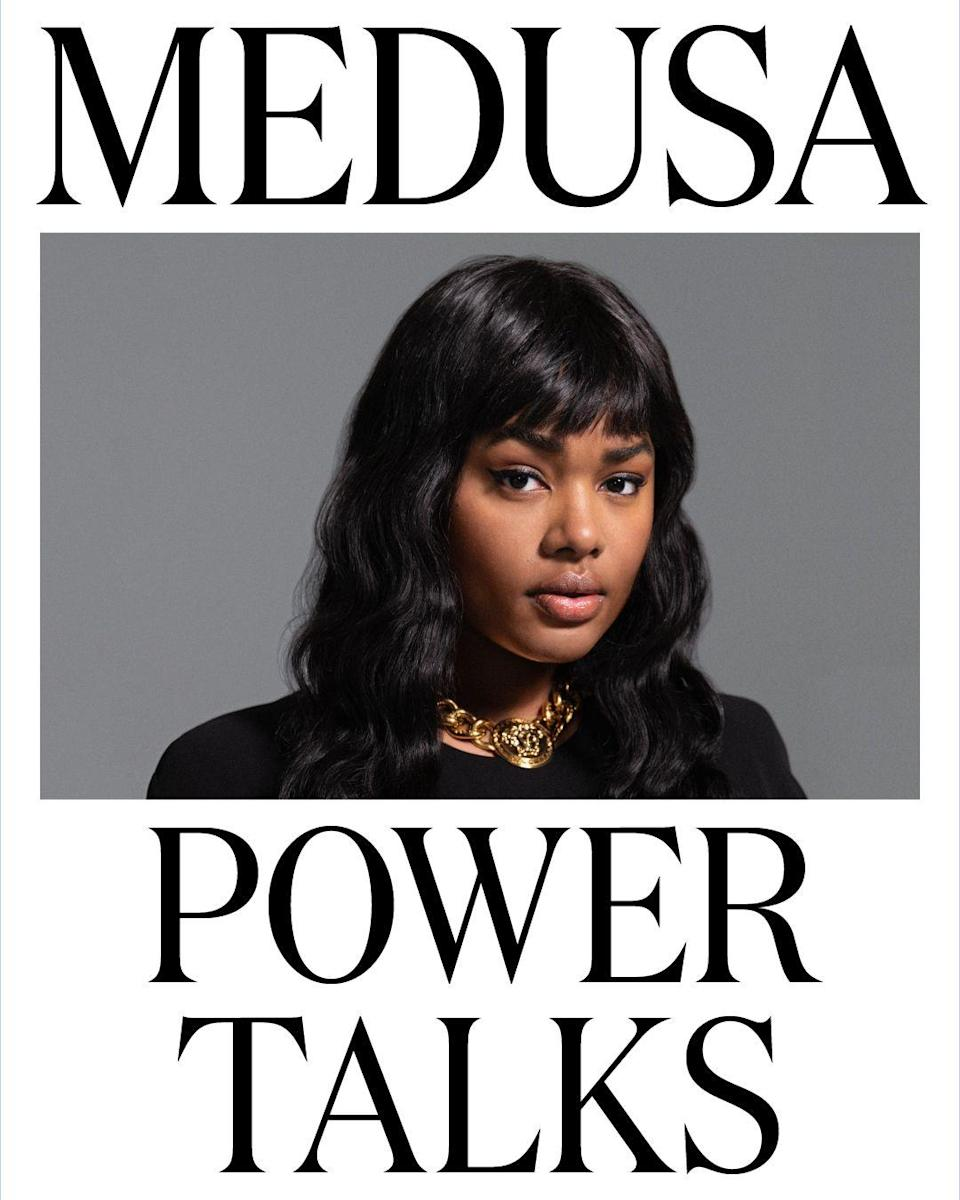 """<p>To celebrate powerful women in 2021, Donatella Versace has launched a new discussion series named 'Medua Power Talks'.</p><p>'The archetype of a powerful person has changed forever' the designer explained. 'For me, to be powerful is above all, the freedom to express yourself as you are, without any fear. Power plays many roles in our everyday lives. With my amazing panel of friends, Medusa Power Talks will discuss, examine and no doubt argue, about what it means for us all to be powerful in 2021. I am passionate about offering a platform to voices that represent the future I want to see, and I can't wait to hear their stories.'</p><p>Featuring the likes of Precious Lee, Irina Shayk and Indya Moore, the conversations will be no doubt fascinating.</p><p><a class=""""link rapid-noclick-resp"""" href=""""https://www.youtube.com/watch?v=PV6V9Lhnrcw&list=PLxViQyEiEuWFZ50Xps3gTkqMAoSWixHyM&ab_channel=Versace"""" rel=""""nofollow noopener"""" target=""""_blank"""" data-ylk=""""slk:LISTEN HERE NOW"""">LISTEN HERE NOW</a></p>"""