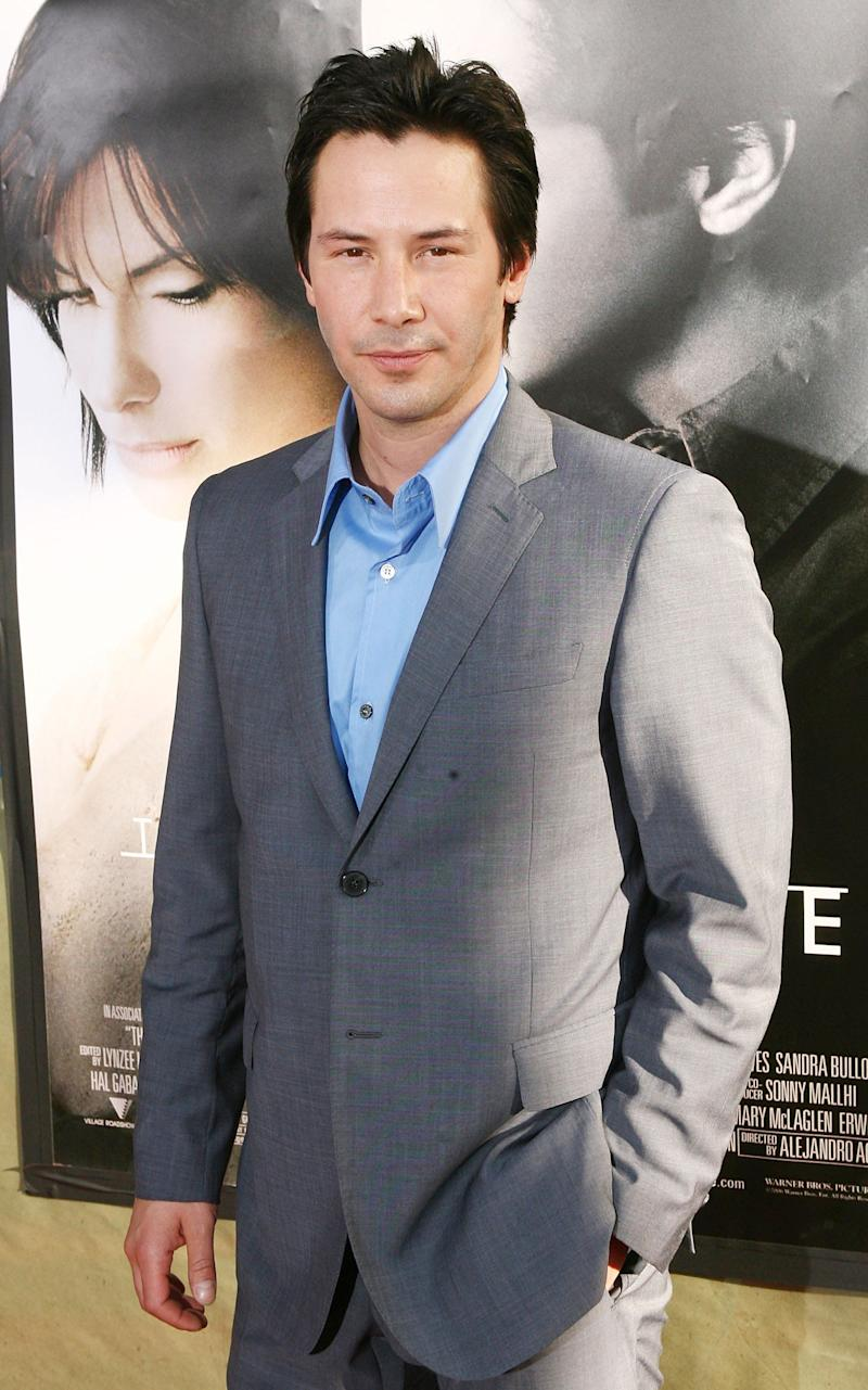Keanu Reeves arrives at the premiere of Warner Bros. Pictures' 'The Lake House' at the Cinerama Dome on June 13, 2006 in Los Angeles, California.
