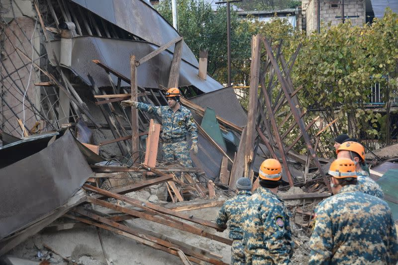 Nagorno-Karabakh says its two largest cities under fierce attack