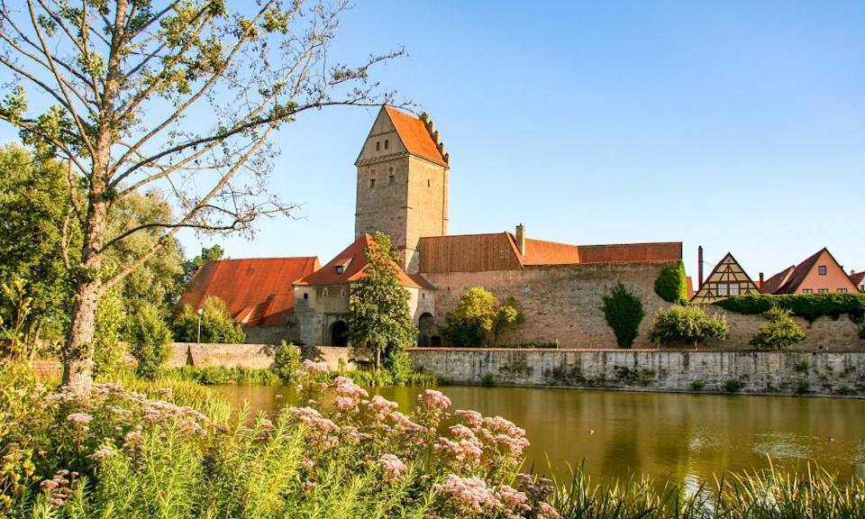 the medieval town of Dinkelsbuhl on the romantic road