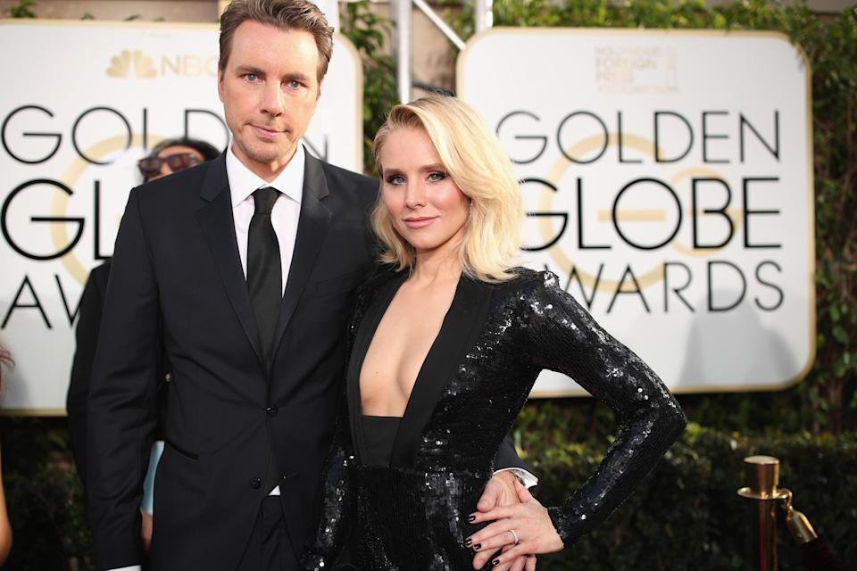 Dax Shepard and Kristen Bell, pictured last year, are on the same page when it comes to drug use. (Photo: Christopher Polk/NBC/NBCU Photo Bank via Getty Images)