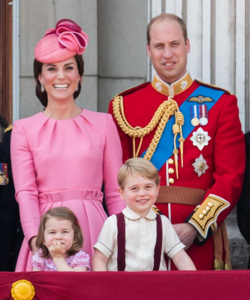 The two-year-old is currently fourth in line to the throne after her brother, Prince George, her father, Prince William and her grandfather, Prince Charles. Photo: Getty Images
