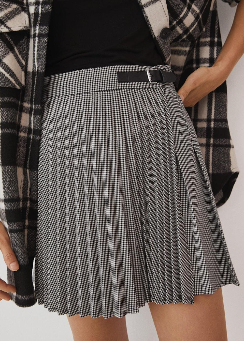 <p>It doesn't get any edgier than a <span>Plaid miniskirt</span> ($50). Style it with chunky sneakers and a short sleeve tee for a cool laid-back vibe.</p>