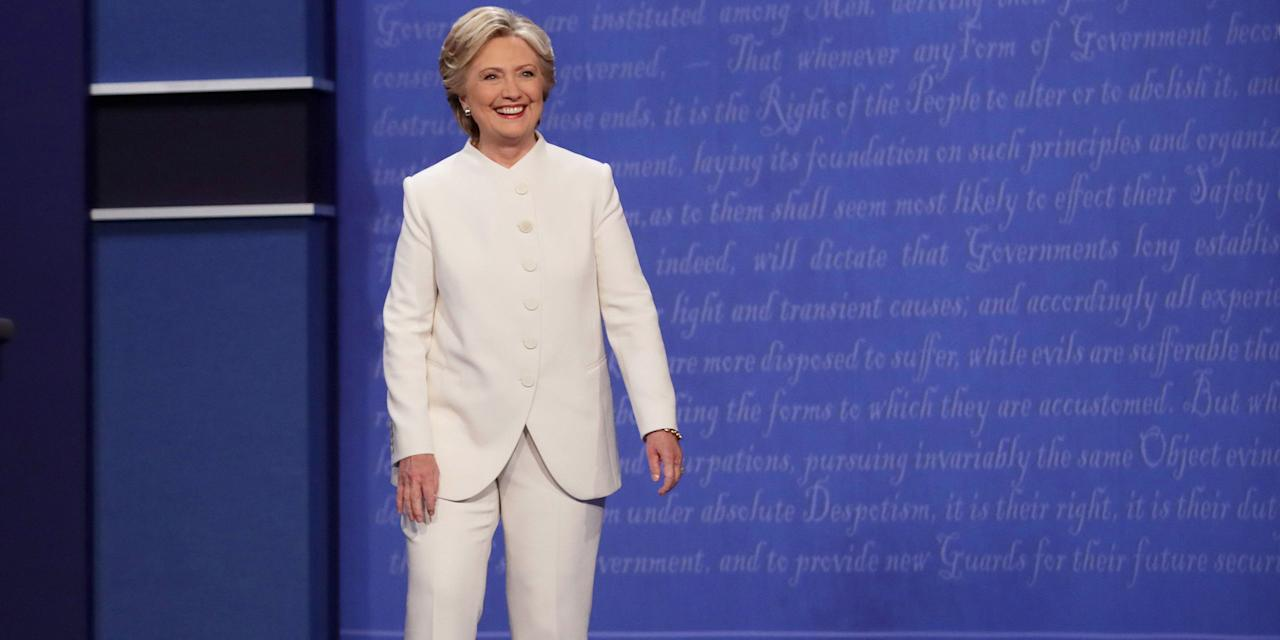 """<p>With Hillary Clinton as the Democratic presidential nominee and the <a rel=""""nofollow"""" href=""""http://www.harpersbazaar.com/culture/a16864/hillary-clinton-first-female-nominee-major-party/"""">first-ever female nominee</a> for a major political party, we're looking back at the former Secretary of State's most memorable looks—from headbands and scrunchies to those famous pantsuits—and every look she dons along the campaign trail.</p>"""