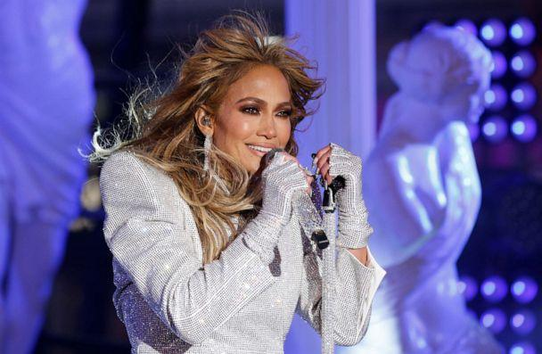 PHOTO: Jennifer Lopez performs in Times Square on New Years Eve in New York City, U.S., Dec. 31, 2020. Gary Hershorn/Pool via REUTERS (Gary Hershorn/Pool via REUTERS)