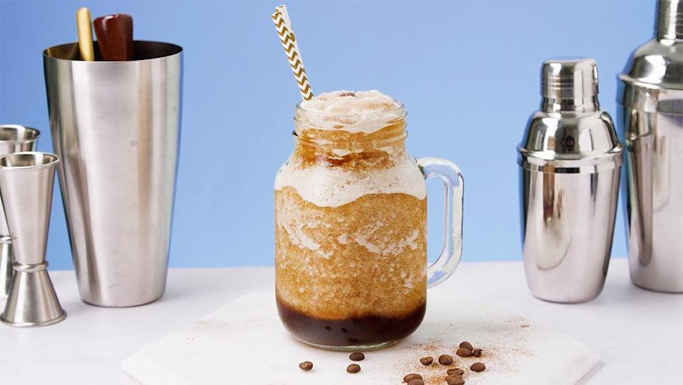 """<p>We love an espresso martini and this frozen version is seriously tasty - hello summer!</p><p><strong>Recipe: <a href=""""https://www.goodhousekeeping.com/uk/food/recipes/a28278167/frozen-espresso-martini/"""" rel=""""nofollow noopener"""" target=""""_blank"""" data-ylk=""""slk:Frozen Espresso Martini"""" class=""""link rapid-noclick-resp"""">Frozen Espresso Martini</a></strong></p>"""