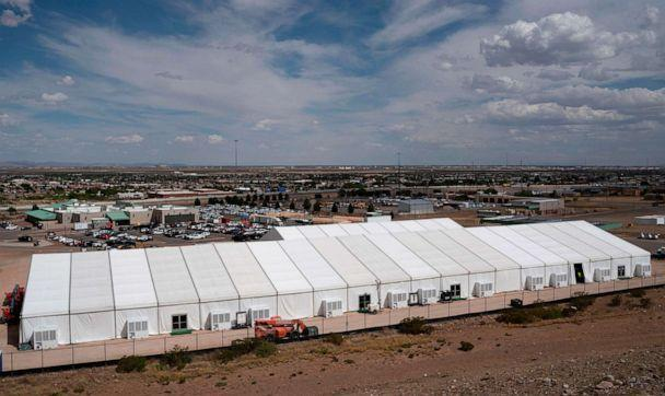 PHOTO: Construction of a new migrant processing facility is underway at the Customs and Border Protection - El Paso Border Patrol Station on the east side of El Paso on April 26, 2019. (Paul Ratje/AFP/Getty Images, FILE)