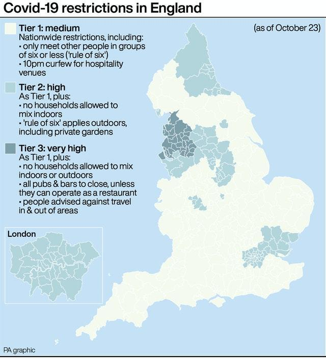 Covid-19 restrictions in England