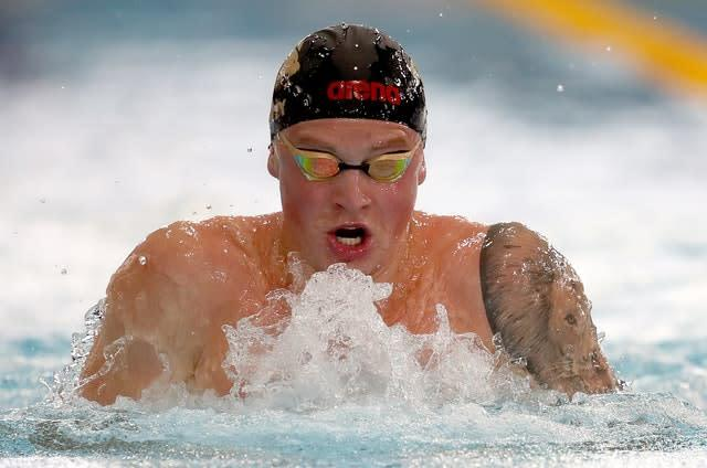 Adam Peaty holds the 100m breaststroke world record (Jane Barlow/PA)