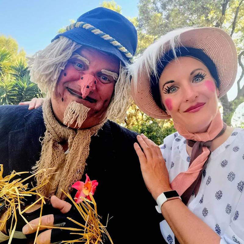 Jo and Pete's 'Worzel Gummidge' themed costumes (PA Real Life/Collect)