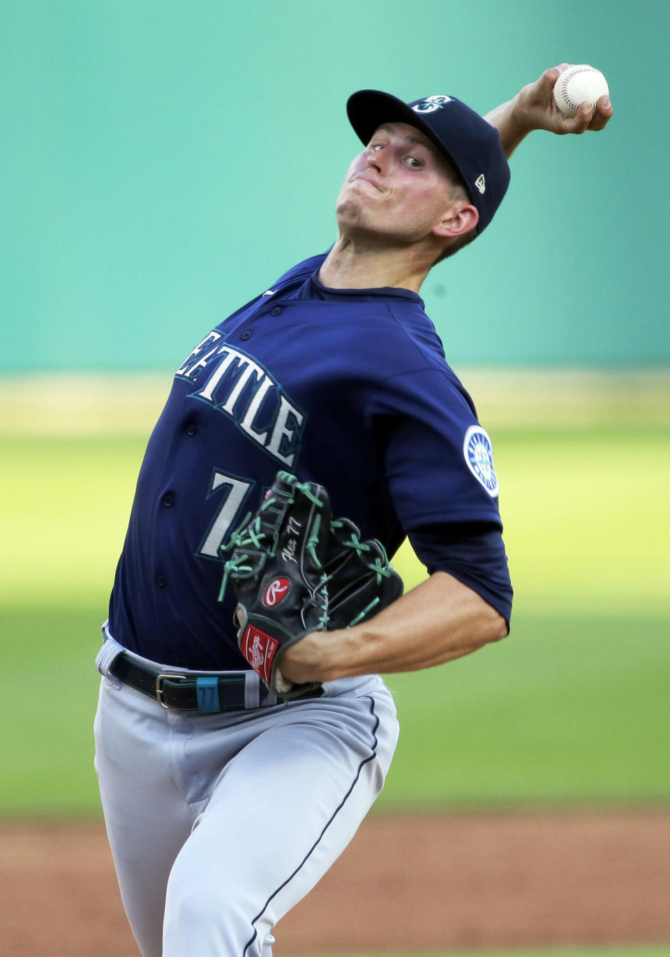Seattle Mariners starter Chris Flexen delivers against the Detroit Tigers during the third inning of a baseball game Wednesday, June 9, 2021, in Detroit. (AP Photo/Duane Burleson)