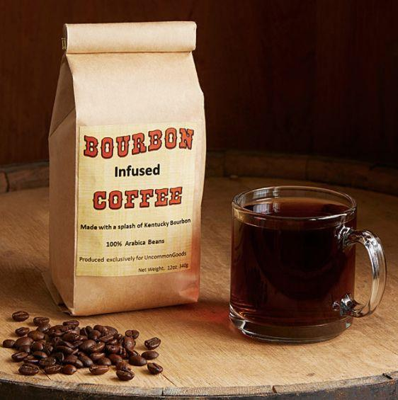 """Life's two best flavors, combined. <a href=""""https://www.uncommongoods.com/product/bourbon-infused-coffee"""" target=""""_blank"""">Shop it here</a>."""